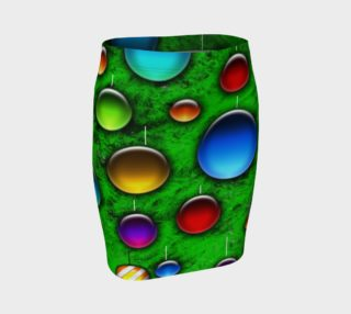 Vivid Glass Orbs Christmas Tree Fitted Skirt preview
