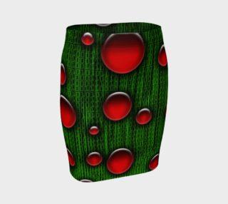Binary Geek Digital Christmas Fitted Skirt preview