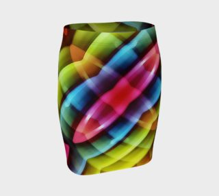 Multicolored Abstract Pattern Print Skirt preview