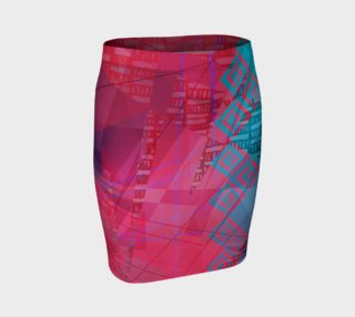 Pink Doodles Fitted Skirt preview