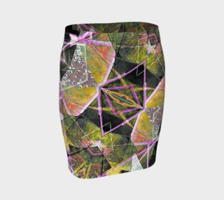 Geometric Grunge Pattern Print Skirt preview