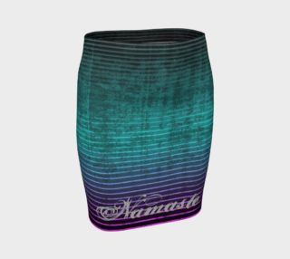 Umsted Design Namaste Distressed Striped Fitted Skirt preview