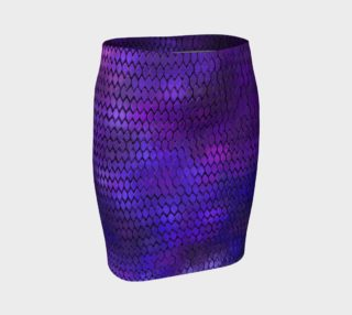 Purple Dragon Scales Fitted Skirt preview