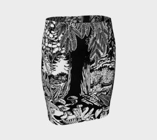Landscape Art Skirts - Black & White Forest Art Print Skirts preview