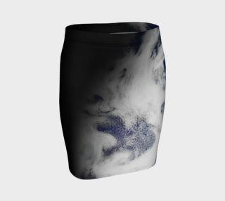 Blue Marble Dragon Bird's Eye View Pencil Skirt preview