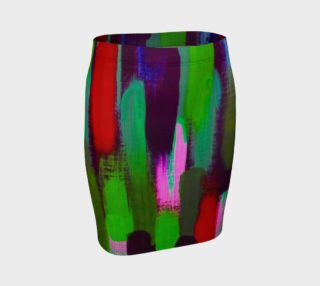 Brushstrokes in Green and Red Skirt preview