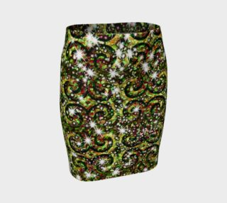 Green Swilr Sparkle Fitted Skirt preview