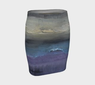 Stormy Beach Fitted Skirt preview