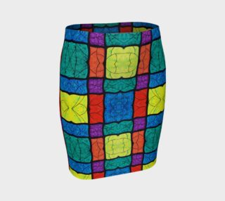 Nouveau Stained Glass II Fitted Skirt preview