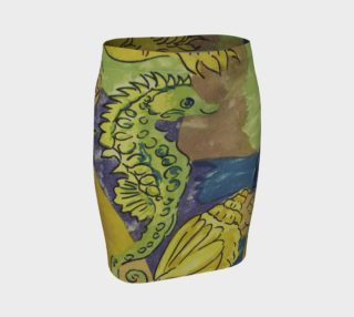 Tropical Seahorse Fitted Skirt preview