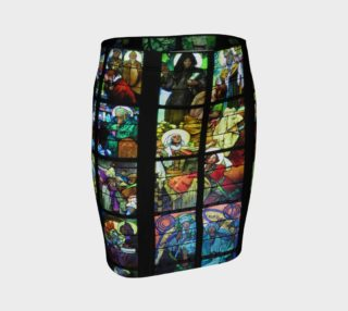 Aperçu de Stained Glass Fitted Skirt
