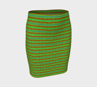 Modern Orange Green Stripes Pattern preview