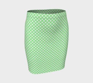 Polka Dots Pattern-Green Fitted Skirt preview