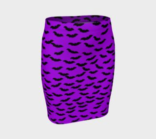 Bats in the Belfry-Purple Fitted Skirt preview