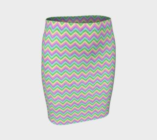 Pastel Chevron Pattern Fitted Skirt preview