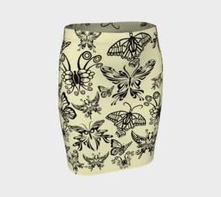 BKC Black Butterfly Fitted Skirt preview