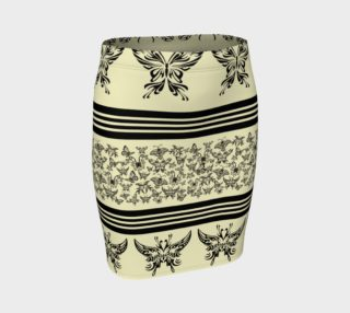 BKC Black Butterfly Fitted Skirt 2 preview