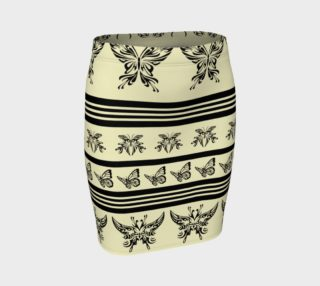 BKC Black Butterfly Fitted Skirt 3 preview