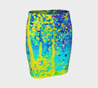Aperçu de Running Through Magic Trees Fitted Skirt