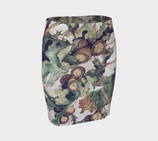 Acorn Watercolor Painting Digitally Modified Fitted Skirt preview