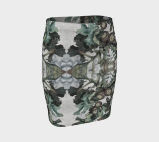 Fall Acorns Mirror Images Fitted Skirt preview