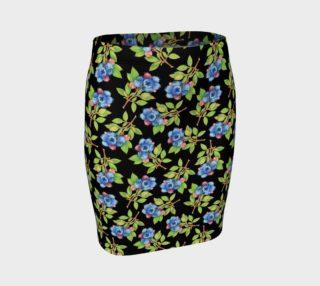 Aperçu de Blueberry Sprig Fitted Skirt