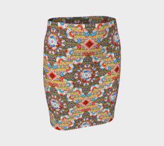 Aperçu de Heraldic Lovebird Fitted Skirt