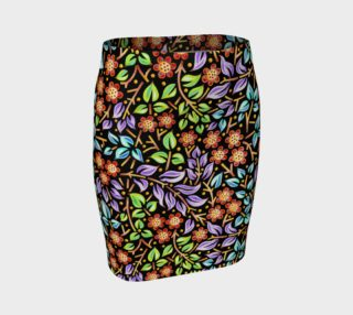Filigree Floral Fitted Skirt preview
