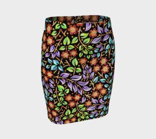 Aperçu de Filigree Floral Fitted Skirt