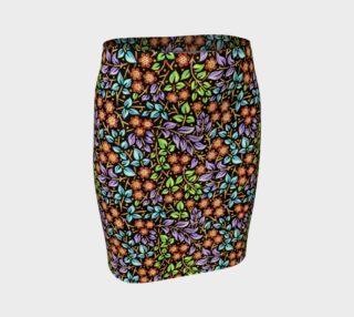 Aperçu de Filigree Floral Fitted Skirt (smaller print)