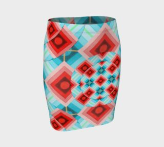 Groovy Argyle Fitted Skirt preview