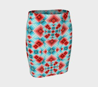 Groovy Argyle Fitted Skirt small print preview