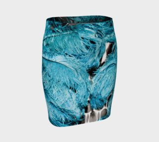 Blue feather skirt preview