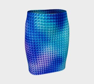 Digital Blur Fitted Skirt preview
