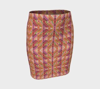 Pueblo Sunset Mosaic Fitted Skirt preview