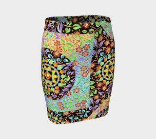 Aperçu de Filgree Floral Patchwork Fitted Skirt