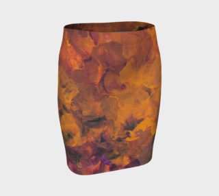 Sunset Flowers Fitted Skirt preview