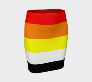 AKO Stripes Fitted Skirt red orange yellow white black preview