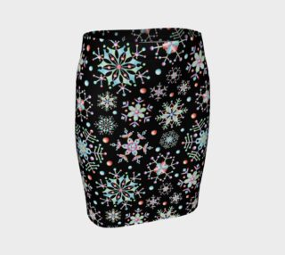 Prismatic Snowflakes Fitted Skirt preview