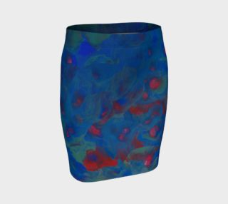 Roses of the Sea Fitted Skirt preview