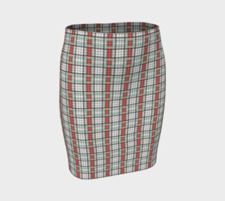 Classic Plaid Fitted Skirt preview