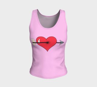Struck by Cupid's Arrow Fitted Tank Top preview