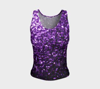 Beautiful Dark Purple glitter sparkles aperçu