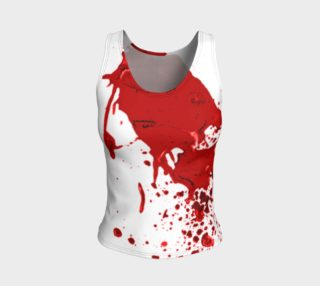 Blood Splatter First Cosplay Halloween Fitted Tank Top preview