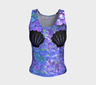 Purple Shell Mermaid Scale Tank Top aperçu