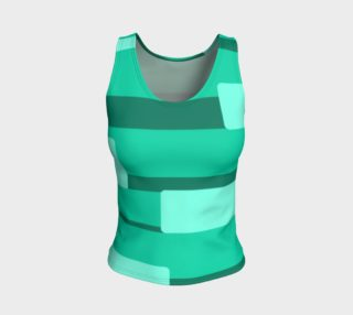 Teal Ocean Fitted Tank Top preview