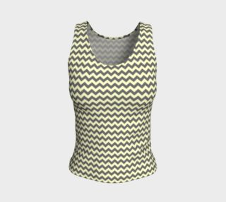 GREY & LINEN CHEVRON FITTED TANK TOP preview