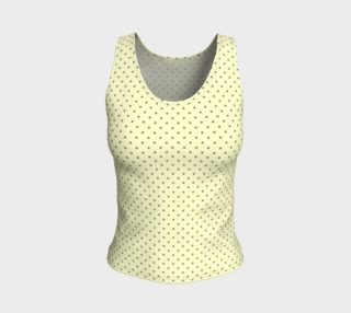 GREY & LINEN DARK POLKA FITTED TANK TOP preview