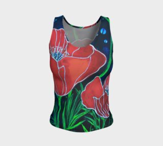 Big Red Poppies 2 Tight Tank preview
