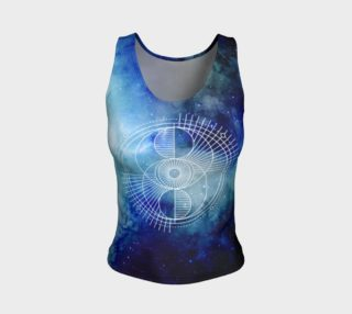 Sacred geometry eye blue galaxy preview